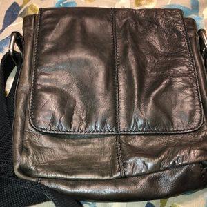 Fossil Brand Leather Messenger Bag